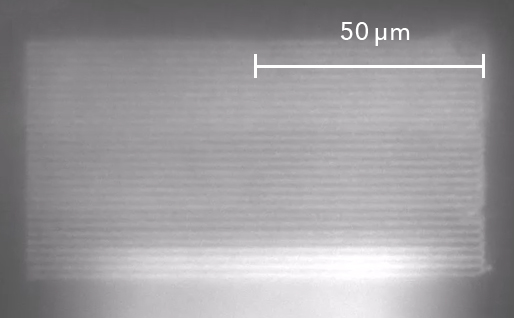FluidFM Nanolithography Lines of Nanoparticles